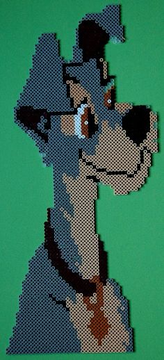 Lady and the Tramp hama beads by perleshama30