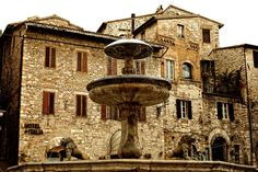 "Assisi - Umbria, Italy • ""oldfountain"" by Fabio Cappellini on http://500px.com/photo/13616219?from=popular"