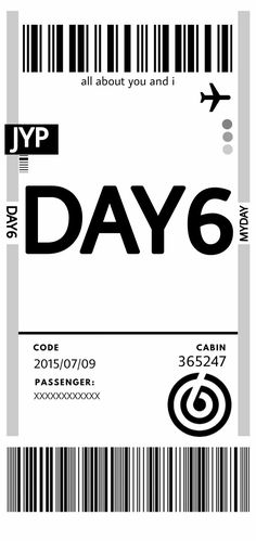 Day6, Ticket, You And I, Company Logo, Coding, Wallpapers, Kpop, Poster, You And Me