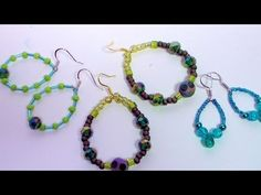 How to Make Earrings Using Soft Flex Beading Wire - YouTube