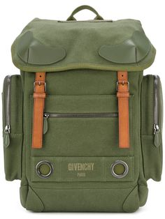 08f71d242b GIVENCHY logo print military backpack.  givenchy  bags  lining  backpacks   cotton