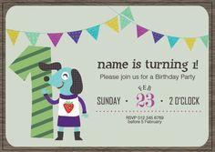 BFY_014 Invite, Invitations, Baby First Birthday, First Birthdays, Rsvp, Monkey, Party, One Year Birthday, Jumpsuit