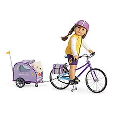 American Girl® Accessories: Cycling Set.  I want!  I want!!  Too bad the trailer alone costs almost as much as my REAL trailer did.