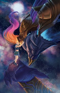Just Zoe and her one and only space doggy, Aurelion Sol~ My piece for leagueofzines' Legends of the Rift zine! Her Space Doggy Lol League Of Legends, Morgana League Of Legends, League Of Legends Characters, Bon Image, Lol Champions, Dragon City, 3d Models, Mobile Legends, World Of Warcraft