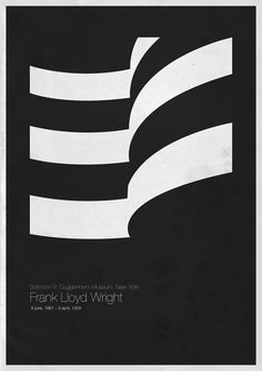 weandthecolor:    Six Architects - Poster Series  A minimalist graphic poster series by Italien architect and designer Andrea Galloinspired by six iconic architects and their famous buildings.  All posters of the series on WE AND THE COLORFacebook//Twitter//Google+//Pinterest