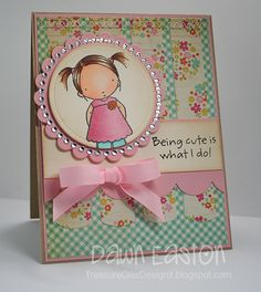Being Cute Is What I Do by TreasureOiler - Cards and Paper Crafts at Splitcoaststampers Card Tags, I Card, Scrapbook Cards, Scrapbooking, Mft Stamps, Simple Stories, Tombow, Some Cards, Card Sketches