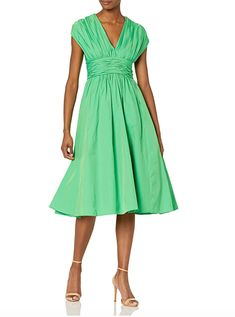 With these 18 rehearsal dinner dress ideas, you'll look like a million bucks without spending it. These rehearsal dinner dresses come in so many colors and patterns and can easily be dressed up or down depending on the venue and vibe of the event. #weddingguestdress #weddingguestoutfit #rehearsaldinnerdress #dressestoweartoawedding #southernliving Halter Neck Maxi Dress, Ruffle Dress, Buy Dress, Dress Up, Rehearsal Dinner Dresses, Dresses To Wear To A Wedding, Dress With Sneakers, Mini Dress With Sleeves, Flare Dress