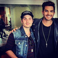 Adam with a fan