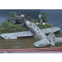 Rescued P-39 Unknown modeler From: aime.mforos  #scalemodel #plastimodelismo #miniatura #miniature #miniatur #hobby #diorama #humvee #scalemodelkit #plastickits #usinadoskits #udk #maqueta #maquette #modelismo #modelism
