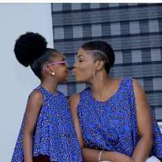 Ankara Stunts For Mother And Daughter African Print Fashion, Africa Fashion, African Fashion Dresses, African Prints, African Attire, African Wear, African Women, Ankara Styles For Kids, African Dresses For Kids