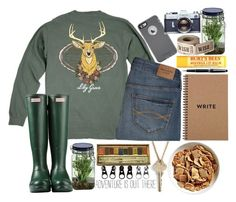 """Adventure Seeker"" by bcsipp ❤ liked on Polyvore featuring The Giving Keys, Abercrombie & Fitch, Hunter, OtterBox, Montblanc, Burt's Bees, Alöe and Full Tilt"