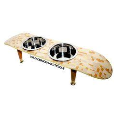 Skateboard pet food bowls #cat #dog