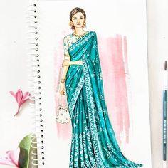 Dipti Patel (@dipti.illustration) • Instagram photos and videos Vintage Fashion Sketches, Fashion Design Sketchbook, Fashion Design Drawings, Fashion Design Illustrations, Dress Design Drawing, Dress Design Sketches, Dress Drawing, Dress Illustration, Fashion Illustration Dresses