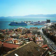 Cagliari's port San Francisco Skyline, River, Outdoor, Outdoors, Outdoor Games, Outdoor Living, Rivers