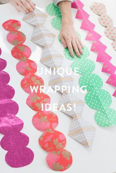 Unique and easy gift wrapping ideas. Wrapping Ideas, Creative Gift Wrapping, Creative Gifts, Wrapping Presents, Easy Diy Crafts, Diy Craft Projects, Jingle All The Way, Easy Gifts, Craft Gifts