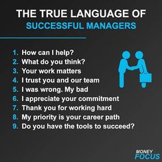 The true language of successful managers Tag a friend Roger La School Leadership, Leadership Coaching, Leadership Development, Leadership Quotes, Manager Quotes, Educational Leadership, School Counseling, Educational Technology, Education Quotes