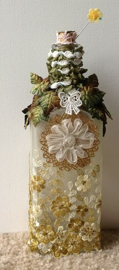 Spring Wedding Apothecary bottle/Altered by LisasLaceboutique, $30.00