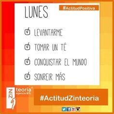 ¡Excelente inicio de semana! ☀️ #ActitudPositiva #ActitudZinteoria #AgenciaBTL ¡Contáctanos! ☎ (33) 3826 3381  e.olmos@zinteoria.com & raul.ds@zinteoria.com
