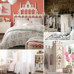 princess inspired room decor | If your little girl dreams of castles, carriages, and glass slippers ...