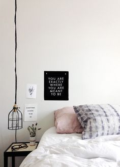 Minimalist white bedroom