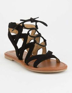 919cfb304634 SODA Ghillie Girls Gladiator Sandals Black Gladiator Sandals