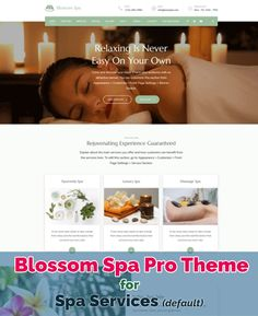 Blossom Spa Pro is a premium WordPress theme specially created for your #beauty care business, #yoga , #spa , #massage center or #wellness center. The theme is perfect for businesses looking to create a beautiful and UX/UI optimized website without making a hole in their pocket. The intuitive theme panel with live customizer lets you create an SEO ready, Speed Optimized, and mobile-friendly spa and salon website on your own. Good Massage, Spa Massage, Best Nail Salon, Massage Center, Spa Therapy, Spa Services, Wellness Center, Business Look, Premium Wordpress Themes