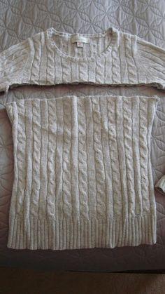 imagen a vista de la hermosa: DIY suéter viejo en la falda suéter!