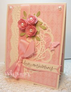 Stampin' Up!  by Vicki Burdick, It's a Stamp Thing: Dynamic Duos.....Happy Anniversary
