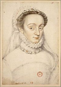 Charlotte de Sauve (1551 - 1617). Mistress of Henri IV. She was a member of the Flying Squadron, a group of beautiful spies hired to Catherine de Medici to seduce powerful men. She would pass information on to Catherine de Medici about Henri IV, but this caused Catherine's daughter, Margot, to become miserable.