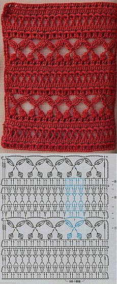 Crochet stitch with chart is creative inspiration for us. Get more photo about home decor related with by looking at photos gallery at the bottom of this page. We are want to say thanks if you like to share this post to another people via your facebook, pinterest, google plus …