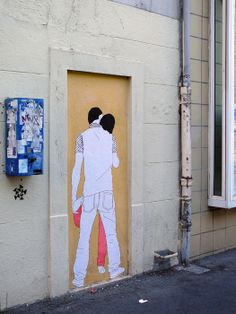 cool street art -- very french!