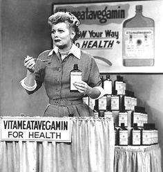 "I Love Lucy ""Vitameatavegamin"" episode...def one of the faves!!!"