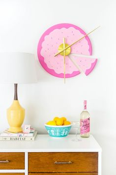Your wall needs this DIY sliced cake clock.
