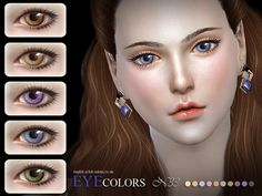 The Sims Resource: Eyecolor 33 by S-Club • Sims 4 Downloads