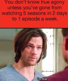 This is about half my friend when they start a new show