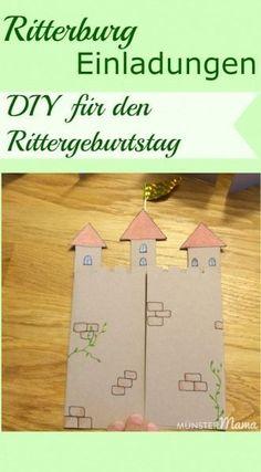 DIY Einladung Für Rittergeburtstag Ein Kindergeburtstag Mit Ritter Und  Drachen