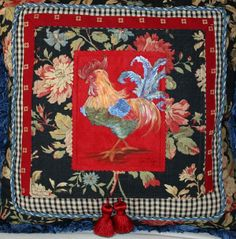 One of a Kind Hand Painted French Country Rooster