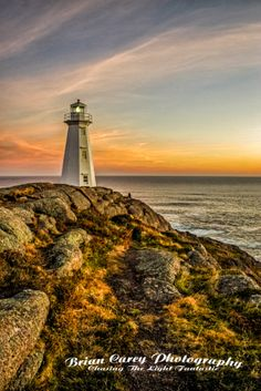 Beacon of Light at Cape Spear Newfoundland
