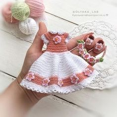 Best 12 Handicraft and Cute Amigurumi Doll Pattern Ideas Part amigurumi doll patterns; Crochet Doll Dress, Crochet Barbie Clothes, Baby Doll Clothes, Crochet Doll Pattern, Crochet Patterns, Amigurumi Patterns, Cute Crochet, Crochet Baby, Easter Crochet