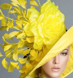 Ketucky Derby Yellow Hat Couture derby hat Yellow by Arturo Rios, Spring 2015