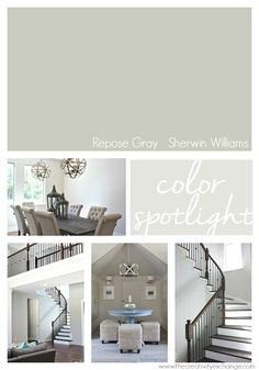 Repose Gray from Sherwin Williams. One of the most versatile colors out there. The Creativity Exchange