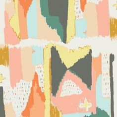 Art Gallery Fabrics - Painting Morale Knits by Art Gallery Fabrics are perfect for fashion, home décor and sewing. Art Gallery Fabrics has had Fabric Painting, Fabric Art, Fabric Design, Cotton Fabric, Textile Design, Pattern Design, Print Design, Art Gallery Fabrics, Crib Bedding Boy