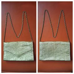 Check out this item in my Etsy shop https://www.etsy.com/listing/257697819/gold-metallic-purse-woven-shiny-evening