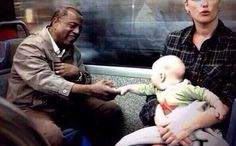 """This photo is a perfect example that racism does not run through the family nor inherited. As the photo says, """"No one is born racist"""" means that racism is taught and learned based on people`s culture or their environment on how to look at people. Andrew Carnegie, Faith In Humanity Restored, Belle Photo, Make Me Smile, Equality, Decir No, In This Moment, Feelings, Words"""