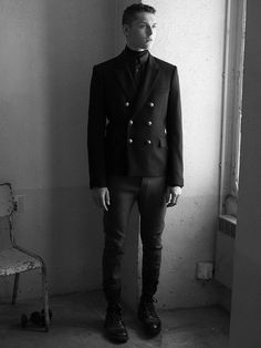 Anders Hayward by Karim Sadli for the Balmain Homme Fall Winter 2014-2015 Lookbook