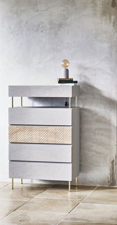The Oro Chest of Drawers has incorporated drawer storage with an open shelf space underneath the top drawer for those everyday essentials.