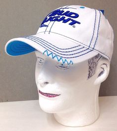 Women or Men BUD LIGHT HAT White amp Blue Relaxed-Fit Dad-Cap Beer df51a2568794