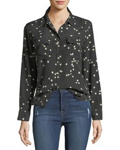 Slim+Signature+Star-Print+Shirt+by+Equipment+at+Neiman+Marcus.