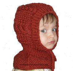 Детская шапочка-шлем вязаная спицами