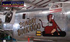 "Nose art on the Consolidated B-24J Liberator ""Bungay Buckaroo"" S/N 44-44175"